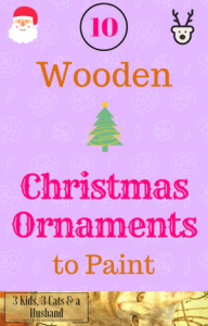 10 wooden christmas ornaments to paint - Unfinished Wooden Christmas Ornaments