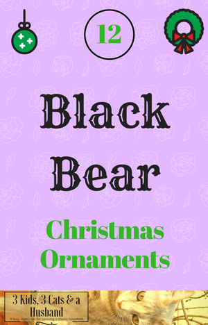 Black Bear Christmas Ornaments