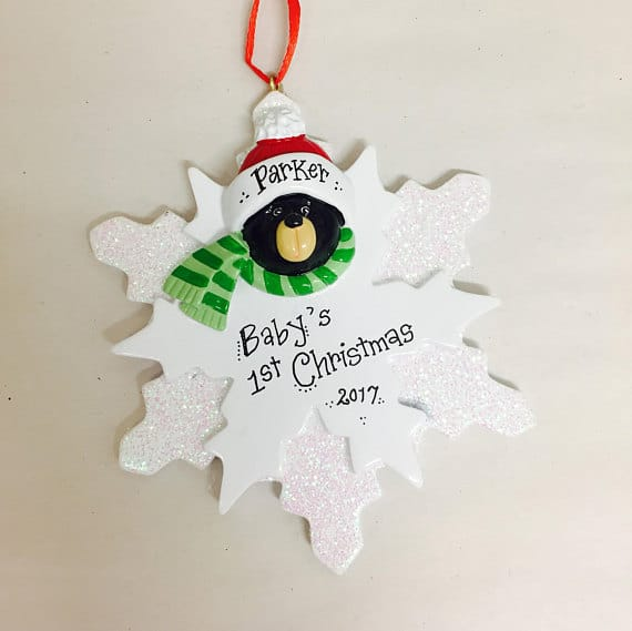 Baby's First Christmas Snowflake Ornament