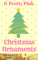 6 Pink Christmas Tree Ornaments