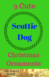 9 Scottie Dog Christmas Ornaments