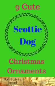 9 Scottie Dog Christmas Ornaments