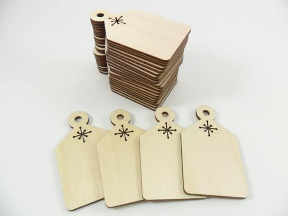 Christmas Gift Tags With Snowflakes