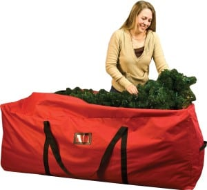 Christmas tree storage bag with wheels and zippers