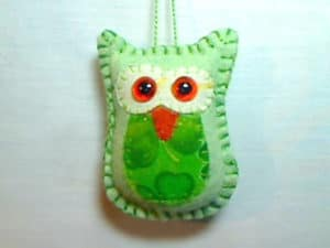 Felt Owl Tree Ornament