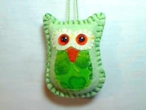 Felt Owl Tree Ornament