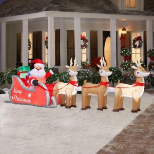 Inflatable Santa Sleigh and Reindeer