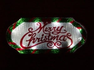 LED Lighted Indoor Outdoor Merry Christmas Sign