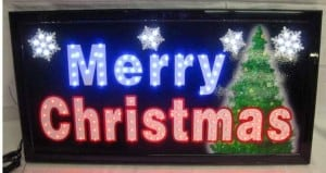 LED Neon Lighted Merry Christmas Sign