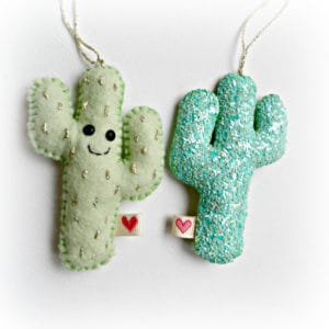 Mint Green Cactus Ornaments