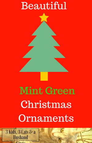 Mint Green Christmas Tree Ornaments and Decorations