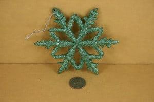 Mint green Christmas Tree Snowflake Ornament