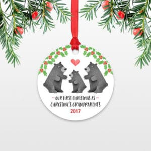 Personalized First Christmas as Grandparents Ornament