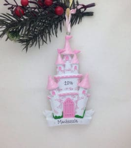 Personalized Pink and White Castle