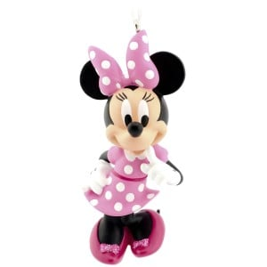 Pink Minnie Mouse CHristmas ornament