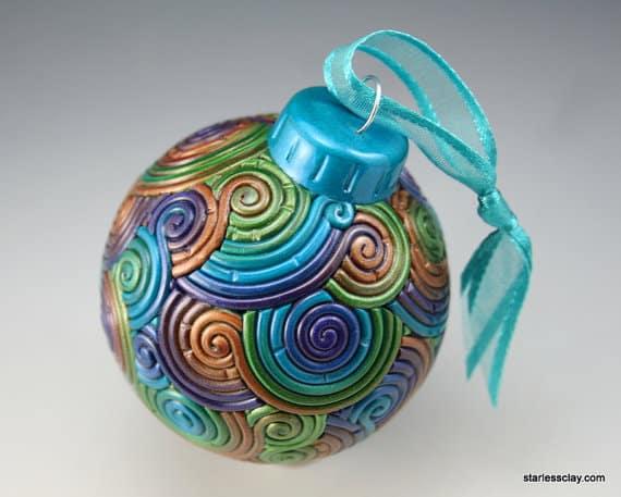 Polymer Clay Ball Ornament