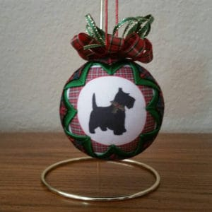 Quilted Scottish Terrier Ornament