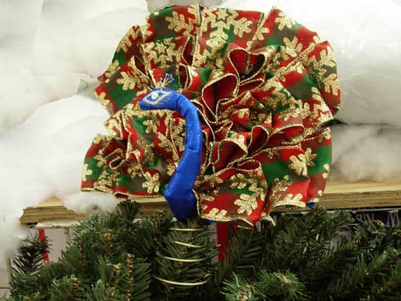 Peacock christmas tree toppers for Green and gold christmas tree