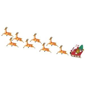 Santa Sleigh and Reindeer 8-Light Set