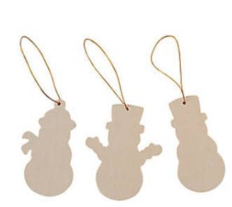 Snowman Ornaments to Paint
