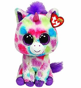 Colorful Stuffed animal Unicorn with Big Eyes