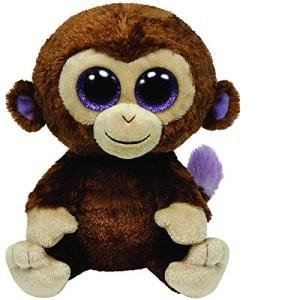 Stuffed money animal with big purple eyes