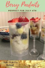 Berry Parfaits Fourth of July Dessert