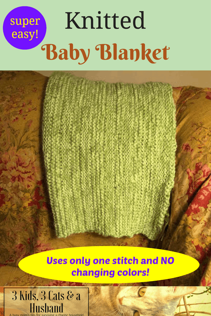 SUPER Easy Knitted Baby Blanket!