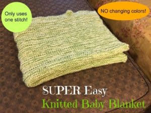 Super Easy knitted baby blanket