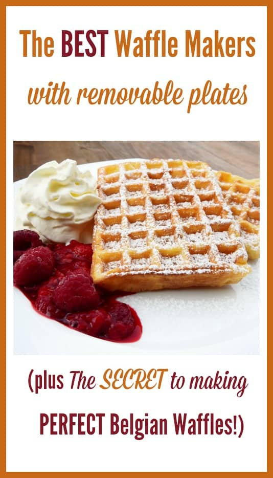 The Best Waffle Makers with Removable Plates