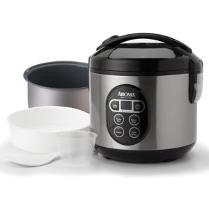 Digital rice cooker and vegetable steamer