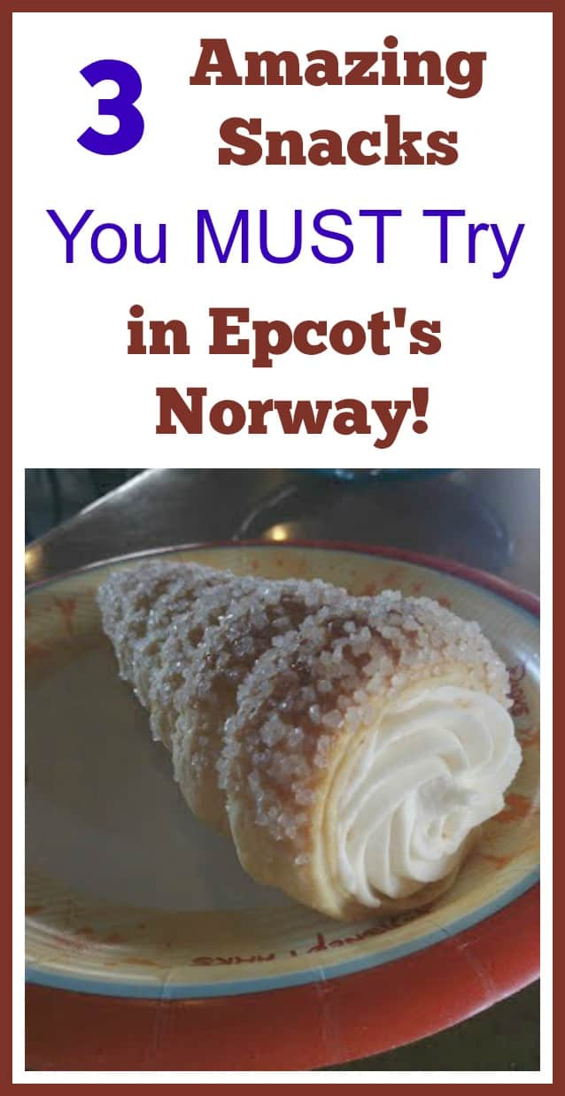Best Desserts in Kringa og Bakeri at the World Showcase -- school bread, berry cream puff, and the Troll Horn.