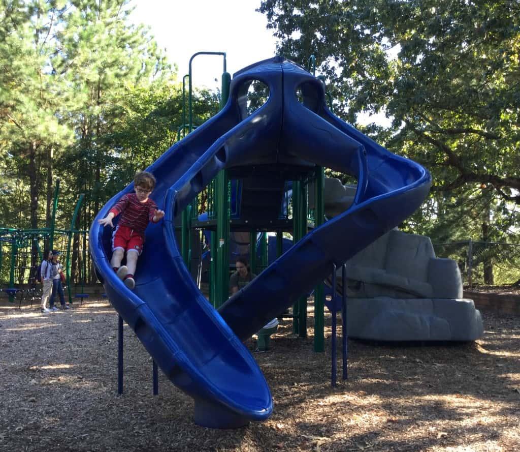 Benny on slide