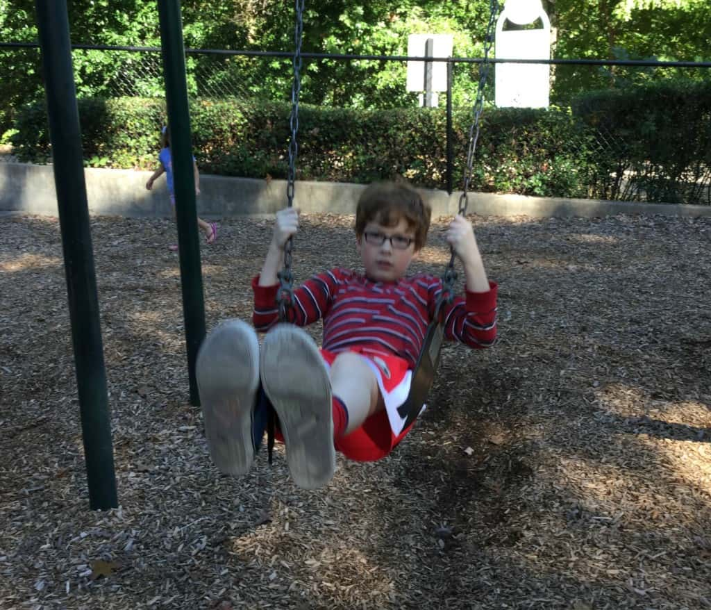 Benny swinging one