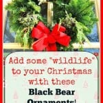 Black Bear Christmas Ornaments