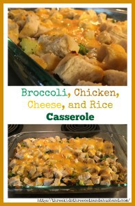 Broccoli chicken cheese and rice casserole
