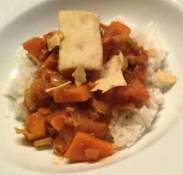 West African Peanut Stew with Sweet Potatoes (Slow Cooker Recipe)