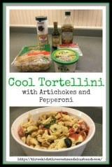 Tortellini with artichokes