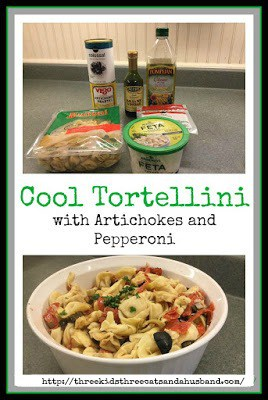 Tortellini with artichokes