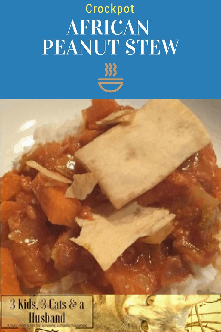 African Peanut Stew in the Crockpot