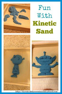 Fun with Kinetic sand