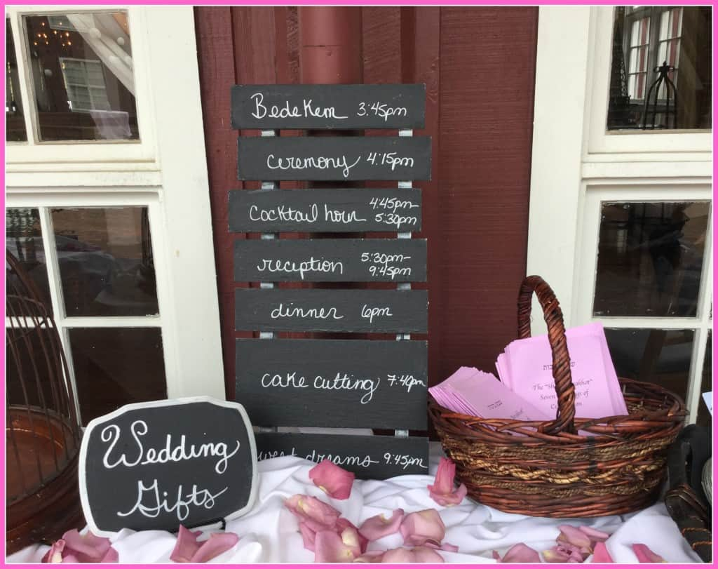 Gift Table at Outdoor Wedding