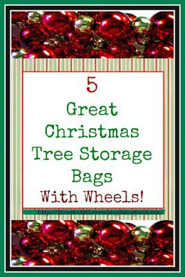 Christmas Tree Storage Bags with Wheels