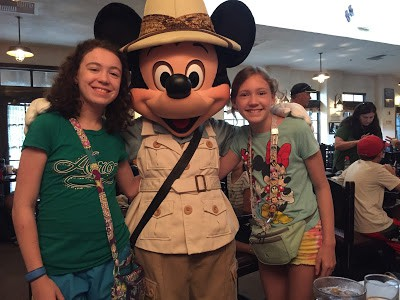 Mickey Mouse at Tusker House restaurant in Animal Kingdom