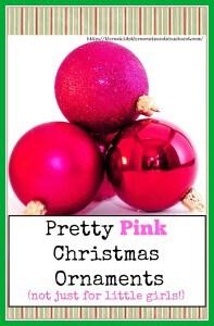 Pretty pink Christmas tree ornaments