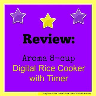 Review of Aroma 8-cup Rice Cooker and food steamer with Digital Delay Timer