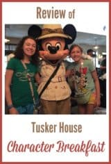 Review of Tusker House Character Breakfast