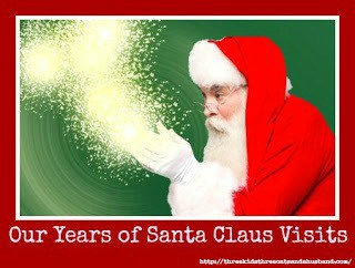 santa visits over the years