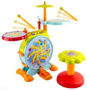 Toddler Drum Set with Stool
