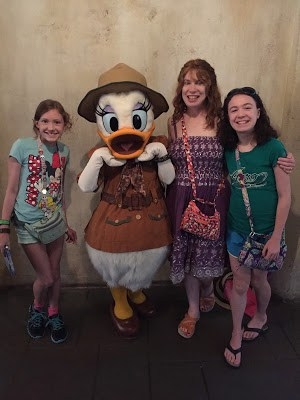 Tusker House character breakfast buffet with Daisy Duck